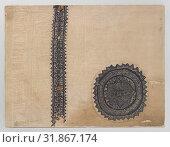 Купить «Tissue Fragment with orbiculus and clavus, Anonymous, c. 300 - c. 499», фото № 31867174, снято 3 декабря 2014 г. (c) age Fotostock / Фотобанк Лори