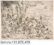 Купить «Laban searching for idols among Jacob's possessions, ca. 1635–40, Etching, sheet: 9 1/2 x 12 7/8 in. (24.2 x 32.7 cm), Prints, Giovanni Benedetto Castiglione...», фото № 31875478, снято 22 мая 2017 г. (c) age Fotostock / Фотобанк Лори