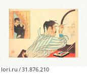 Print, Meiji period (1868–1912), ca. 1906, Japan, Polychrome woodblock print, ink and color on paper, 8 5/8 x 12 3/8 in. (21.9 x 31.4 cm), Prints, Tomioka Eisen (Japanese, 1864–1905) (2017 год). Редакционное фото, фотограф © Copyright Artokoloro Quint Lox Limited / age Fotostock / Фотобанк Лори