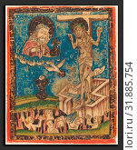Купить «German 15th Century, Allegory of the Eucharist, 1470-1490, hand colored woodcut», фото № 31885754, снято 1 октября 2010 г. (c) age Fotostock / Фотобанк Лори