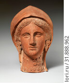 Terracotta head of a woman wearing a stephane, Cypro-Classical II, ca. 400–310 B.C., Cypriot, Terracotta, mold-made, H. 13 3/4 in. (35 cm), Terracottas... (2017 год). Редакционное фото, фотограф © Copyright Artokoloro Quint Lox Limited / age Fotostock / Фотобанк Лори