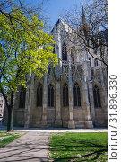Купить «Neo gothic style Votive Church in Vienna, Austria.», фото № 31896330, снято 13 апреля 2018 г. (c) easy Fotostock / Фотобанк Лори