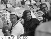 Купить «USA Florida - 16 July 1969 - JoAnn Morgan (centre) was the only woman in the launch firing room during the launch of Apollo 11 from Cape Canaveral in Florida...», фото № 31897330, снято 17 августа 2019 г. (c) age Fotostock / Фотобанк Лори