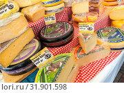 Купить «Dutch cheese assortment, Amsterdam», фото № 31901598, снято 25 февраля 2017 г. (c) EugeneSergeev / Фотобанк Лори