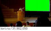 Купить «Mature African american businessman giving presentation in a business seminar 4k», видеоролик № 31902050, снято 15 ноября 2018 г. (c) Wavebreak Media / Фотобанк Лори