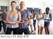 Купить «Couples enjoying dances in studio», фото № 31902478, снято 30 июля 2018 г. (c) Яков Филимонов / Фотобанк Лори