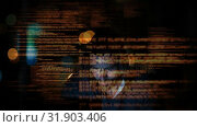 Купить «Hacker using computer in dark room», видеоролик № 31903406, снято 22 января 2019 г. (c) Wavebreak Media / Фотобанк Лори