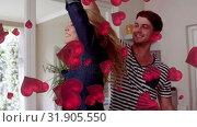 Купить «Couple dancing», видеоролик № 31905550, снято 13 февраля 2019 г. (c) Wavebreak Media / Фотобанк Лори