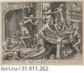 Купить «Lean kitchen, Pieter van der Heyden, Hendrick Hondius (I), 1597 - 1649», фото № 31911262, снято 28 декабря 2014 г. (c) age Fotostock / Фотобанк Лори
