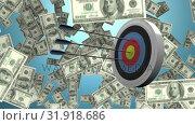 Target and dollars. Стоковое видео, агентство Wavebreak Media / Фотобанк Лори