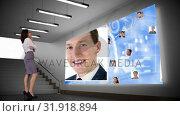 Купить «Woman staring at a screen with profile», видеоролик № 31918894, снято 5 марта 2019 г. (c) Wavebreak Media / Фотобанк Лори