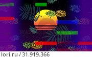 Купить « Pineapple with sunset with colorful sizzle strip », видеоролик № 31919366, снято 5 марта 2019 г. (c) Wavebreak Media / Фотобанк Лори