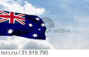 Купить «Flag of Australia waving», видеоролик № 31919790, снято 5 марта 2019 г. (c) Wavebreak Media / Фотобанк Лори