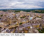 Panoramic view from drone on the city center Lugo. Galicia. Spain (2019 год). Стоковое фото, фотограф Яков Филимонов / Фотобанк Лори