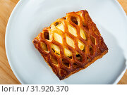 Купить «Puff pastry stuffed with cheese», фото № 31920370, снято 18 мая 2019 г. (c) Яков Филимонов / Фотобанк Лори