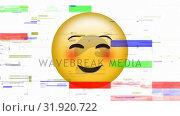 Купить «Smiling face with smiling eyes emoji», видеоролик № 31920722, снято 5 марта 2019 г. (c) Wavebreak Media / Фотобанк Лори