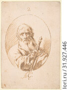 Купить «Half-length Figure of St Paul in an Oval., 1616–68, Pen and light brown ink over traces of black chalk underdrawing on cream paper. Composition outlined...», фото № 31927446, снято 21 мая 2017 г. (c) age Fotostock / Фотобанк Лори