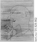 Old Man Counting, 1929, Etching, plate: 11 5/8 × 9 3/8 in. (29.5 × 23.8 cm), Prints, Paul Klee (German (born Switzerland), Münchenbuchsee 1879–1940 Muralto-Locarno) (2017 год). Редакционное фото, фотограф © Copyright Artokoloro Quint Lox Limited / age Fotostock / Фотобанк Лори