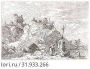 Canaletto (aka Antonio Canale) (Italian, 1697 - 1768). The Pilgrim in Prayer (Le Pélerin en Priere), 18th century. First state. (2013 год). Редакционное фото, фотограф Artokoloro / age Fotostock / Фотобанк Лори