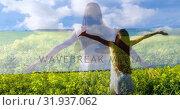Купить «Woman standing in a field of flowers 4k», видеоролик № 31937062, снято 17 апреля 2019 г. (c) Wavebreak Media / Фотобанк Лори