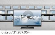 Купить «Flat screen televisions on sale», видеоролик № 31937954, снято 25 апреля 2019 г. (c) Wavebreak Media / Фотобанк Лори