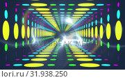 Купить «Circle patterns and a smoke-like light», видеоролик № 31938250, снято 8 мая 2019 г. (c) Wavebreak Media / Фотобанк Лори