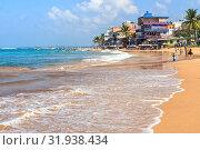 Купить «View of Indian Ocean from Hikkaduwa Beach. Sri Lanka», фото № 31938434, снято 6 февраля 2018 г. (c) Владимир Сергеев / Фотобанк Лори