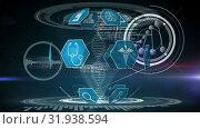 Medical icons and DNA double helix. Стоковое видео, агентство Wavebreak Media / Фотобанк Лори