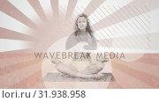 Купить «Woman meditating», видеоролик № 31938958, снято 17 апреля 2019 г. (c) Wavebreak Media / Фотобанк Лори