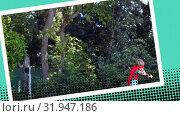 Купить «Little boy playing superhero», видеоролик № 31947186, снято 25 апреля 2019 г. (c) Wavebreak Media / Фотобанк Лори