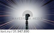 Купить «Robot arm with shining effects», видеоролик № 31947890, снято 24 мая 2019 г. (c) Wavebreak Media / Фотобанк Лори