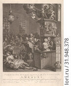 Credulity, Superstition, and Fanaticism, March 15, 1762, Etching and engraving, second state of two, plate: 17 1/4 x 13 in. (43.8 x 33 cm), Prints, William Hogarth (British, London 1697–1764 London) (2017 год). Редакционное фото, фотограф © Copyright Artokoloro Quint Lox Limited / age Fotostock / Фотобанк Лори