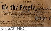 Купить «Written constitution of the United States 4k», видеоролик № 31949514, снято 24 мая 2019 г. (c) Wavebreak Media / Фотобанк Лори