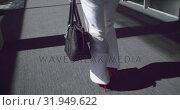 Купить «woman walking in the corridor at office 4k», видеоролик № 31949622, снято 21 марта 2019 г. (c) Wavebreak Media / Фотобанк Лори