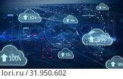 Купить «Uploading in the digital cloud», видеоролик № 31950602, снято 14 мая 2019 г. (c) Wavebreak Media / Фотобанк Лори