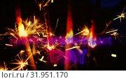 Купить «Independence day text and a sparkle for fourth of July.», видеоролик № 31951170, снято 11 июня 2019 г. (c) Wavebreak Media / Фотобанк Лори