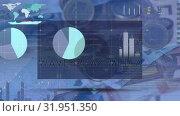 Купить «charts and graphs over euro notes and coins», видеоролик № 31951350, снято 13 июня 2019 г. (c) Wavebreak Media / Фотобанк Лори