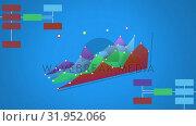 Купить «Blank line graphs and labels», видеоролик № 31952066, снято 13 июня 2019 г. (c) Wavebreak Media / Фотобанк Лори