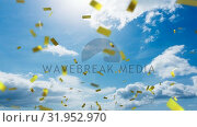 Купить «View of the sky and confetti», видеоролик № 31952970, снято 21 июня 2019 г. (c) Wavebreak Media / Фотобанк Лори