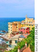 Купить «Boccadasse district in Genova», фото № 31954942, снято 7 июля 2019 г. (c) Роман Сигаев / Фотобанк Лори