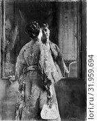 Купить «The Japanese Robe, ca. 1872, Oil on canvas, 36 1/2 x 25 1/8 in. (92.7 x 63.8 cm), Paintings, Alfred Stevens (Belgian, Brussels 1823–1906 Paris)», фото № 31959694, снято 27 апреля 2017 г. (c) age Fotostock / Фотобанк Лори