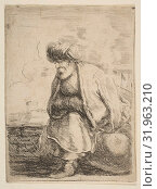 Купить «An Old Turk Seated on a Stone, ca. 1662, Etching, Sheet (trimmed to plate): 3 7/8 × 2 7/8 in. (9.8 × 7.3 cm), Prints, Stefano della Bella (Italian, Florence 1610–1664 Florence)», фото № 31963210, снято 22 апреля 2017 г. (c) age Fotostock / Фотобанк Лори