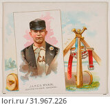 James Ryan, Center Fielder, Chicago, from World's Champions, Second Series (N43) for Allen & Ginter Cigarettes, 1888, Commercial lithograph, Sheet: 2 15... (2017 год). Редакционное фото, фотограф © Copyright Artokoloro Quint Lox Limited / age Fotostock / Фотобанк Лори