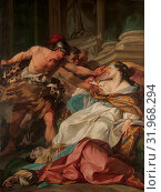 Купить «The Death of Harmonia, ca. 1740–41, Oil on canvas, 77 1/2 x 58 1/4 in. (196.9 x 148 cm), Paintings, Jean-Baptiste Marie Pierre (French, Paris 1714â€...», фото № 31968294, снято 27 апреля 2017 г. (c) age Fotostock / Фотобанк Лори