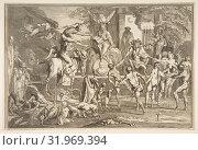 Купить «Errant pendant la nuit..., n.d., Etching, third state, image: 8 7/8 x 13 1/8 in. (22.5 x 33.4 cm), trimmed with inscription cut off, Prints, Claude Gillot (French, Langres 1673–1722 Paris)», фото № 31969394, снято 22 апреля 2017 г. (c) age Fotostock / Фотобанк Лори