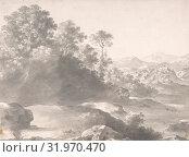 Купить «Landscape, 1609–67, Brush and gray wash over black chalk, sheet: 9 3/16 x 12 7/16 in. (23.3 x 31.6 cm), Drawings, Cornelis van Poelenburch (Dutch, Utrecht (?) 1594/95–1667 Utrecht)», фото № 31970470, снято 22 мая 2017 г. (c) age Fotostock / Фотобанк Лори
