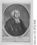 Jonathan Mayhew, D. D. Pastor of the West Church in Boston, New England, 1766, Mezzotint, early state without engraved text, irregularly trimmed to plate... (2017 год). Редакционное фото, фотограф © Copyright Artokoloro Quint Lox Limited / age Fotostock / Фотобанк Лори