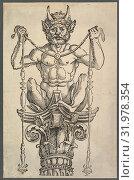 The Great Column (top block), ca. 1517, Woodcut, Prints, Albrecht Dürer (German, Nuremberg 1471–1528 Nuremberg) (2017 год). Редакционное фото, фотограф © Copyright Artokoloro Quint Lox Limited / age Fotostock / Фотобанк Лори