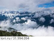 Купить «View of Caucasian mountains», фото № 31994094, снято 22 июня 2017 г. (c) Юлия Белоусова / Фотобанк Лори