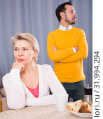 Son proves to mother his position. Стоковое фото, фотограф Яков Филимонов / Фотобанк Лори